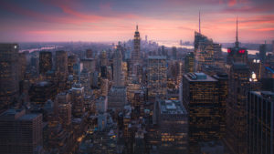 New York City, Sunset Cityscape Photography