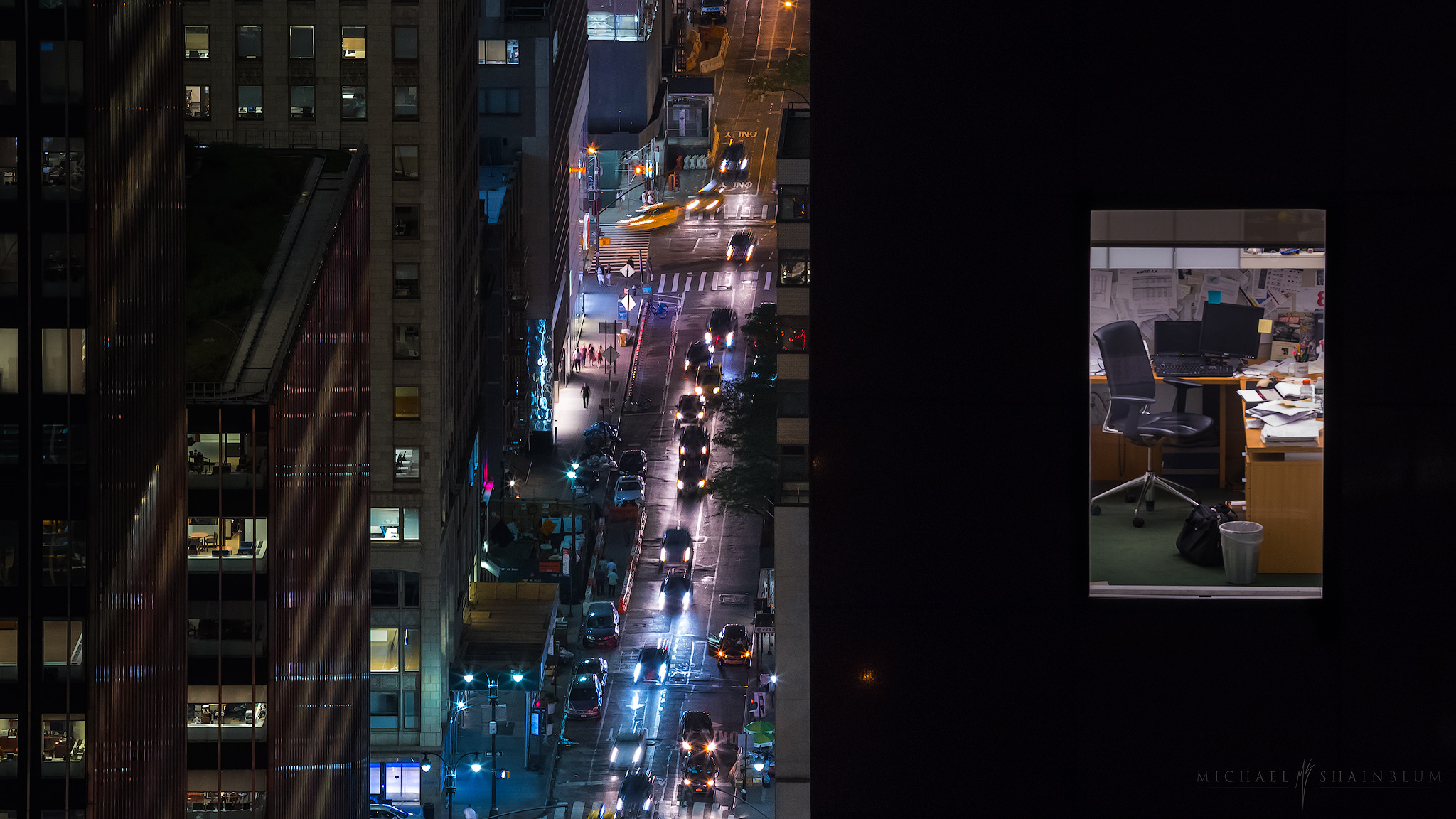 New York City, Night Office Photography