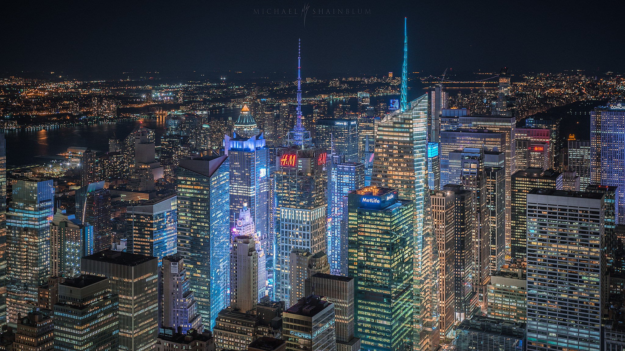 New York City Cityscape Times Square Night Photography Michael Shainblum Photography