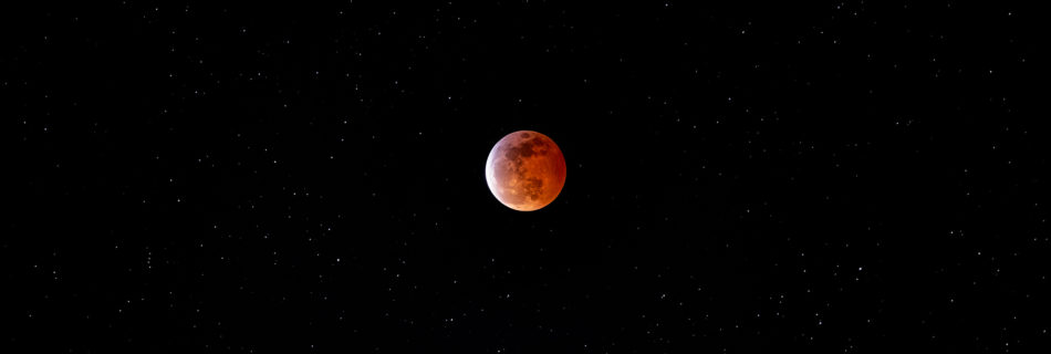 Blood Moon Eclipse over San Francisco California.