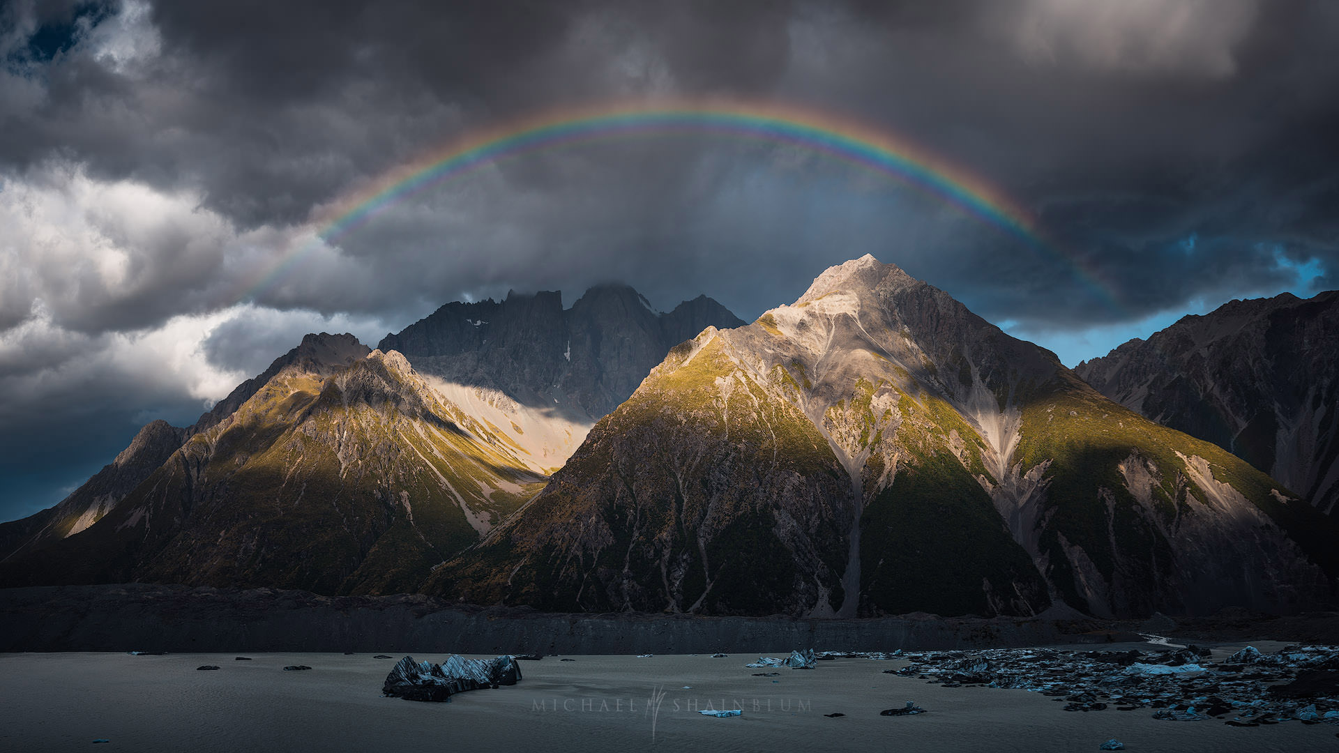 Rainbow Mount Cook, New Zealand Timelapse