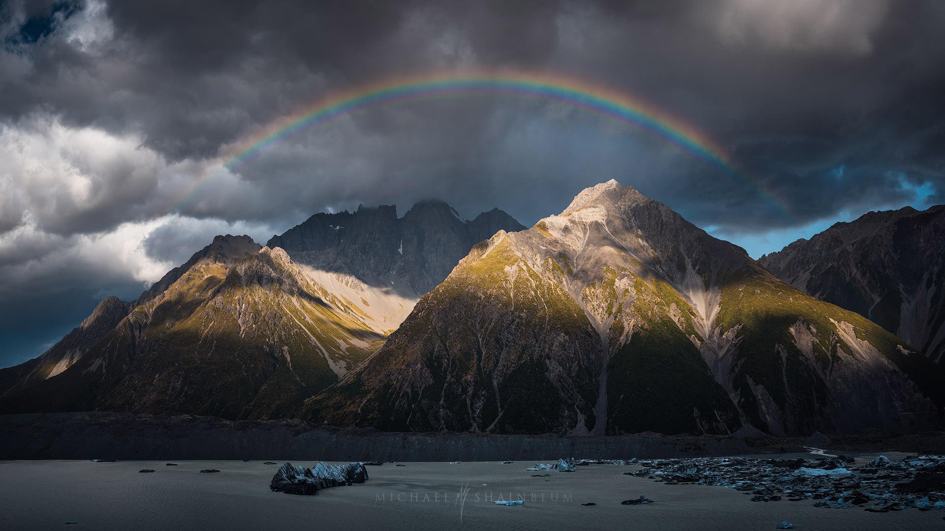 Rainbow Mount Cook, New Zealand Landscape Photography