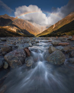Mount Cook New Zealand Landscape Photography Rainbow