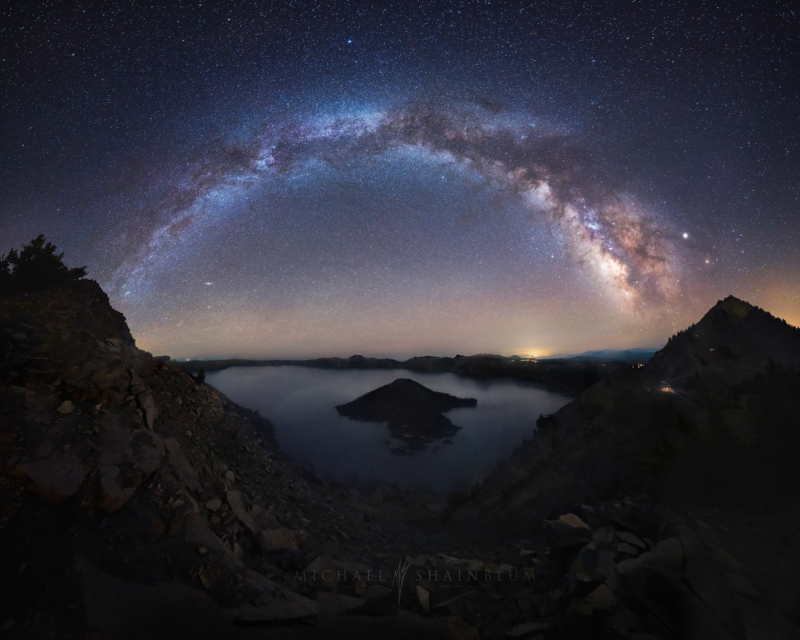 Crater Lake Milky Way Photography, Landscape