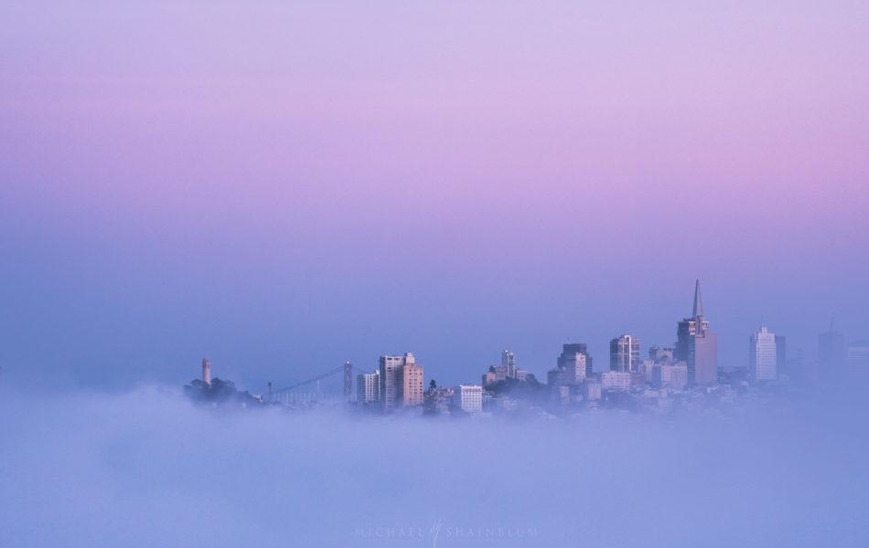 San Francisco Fog Landscape Photography, Golden Gate Bridge