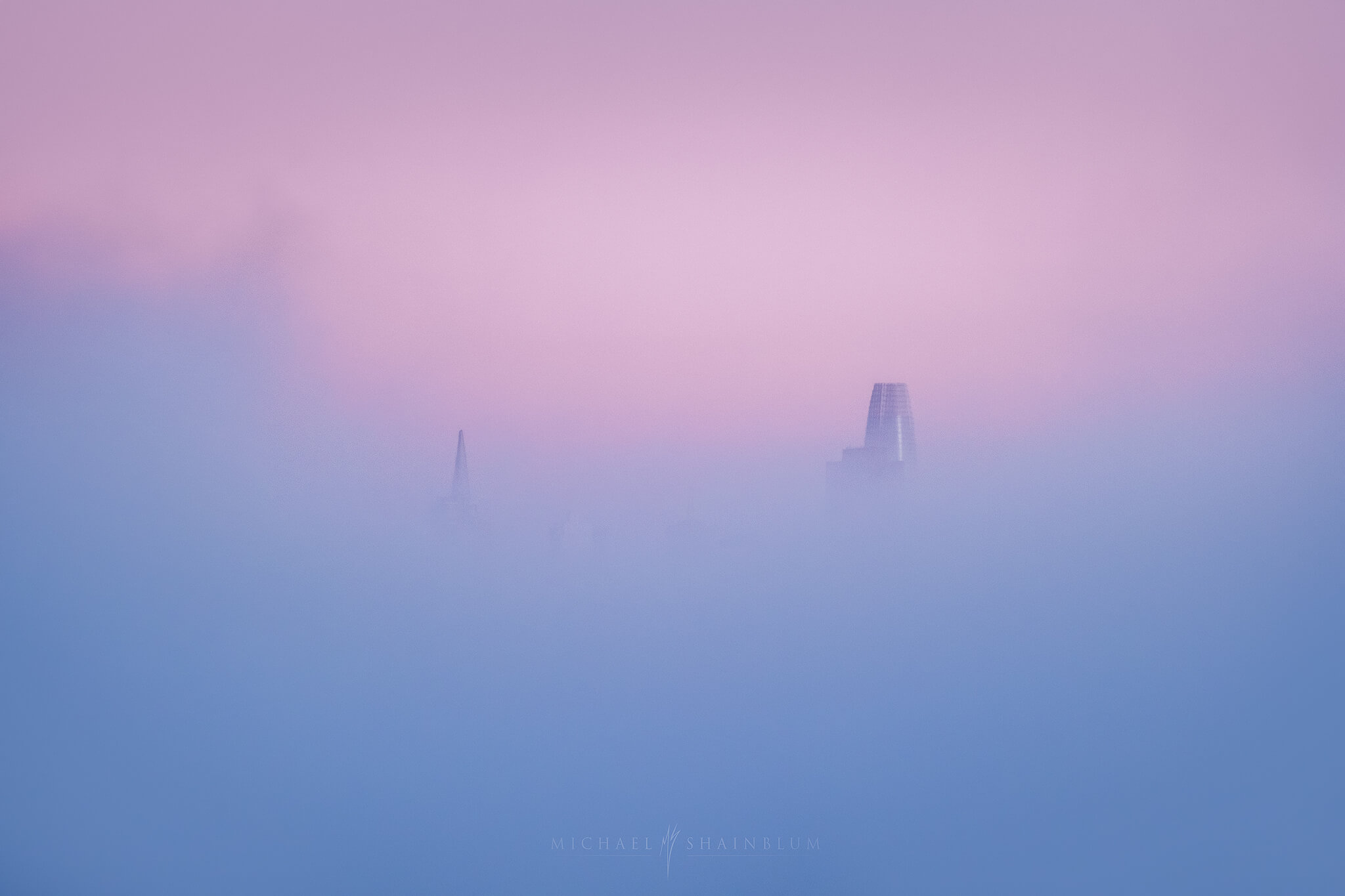 San Francisco Fog Landscape Photography, Golden Gate Bridge