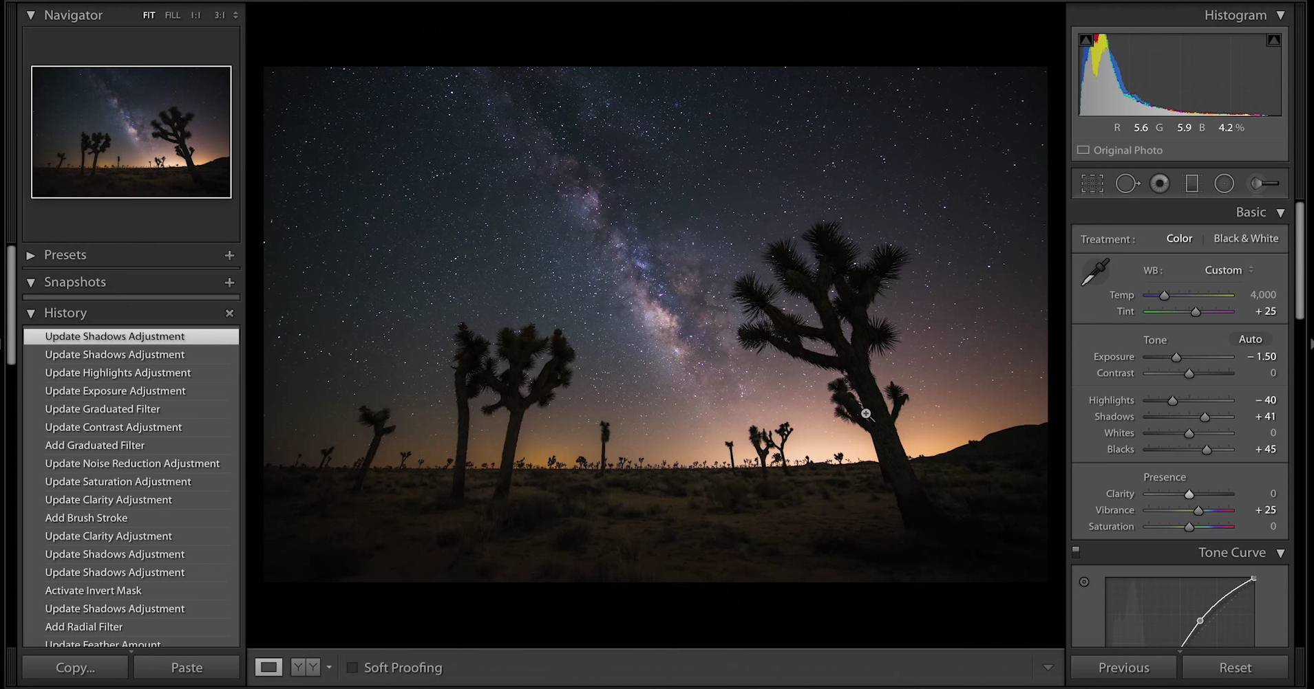 Lightroom Milky Way Processing Tutorial