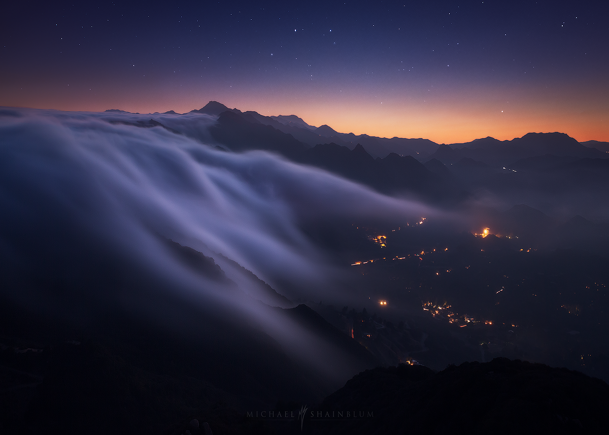 Malibu Cloud Waterfall Stars California