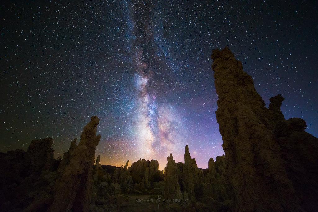 Milky Way Mono Lake Tufas Night Sky