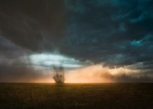 Land Spout Storm Clouds