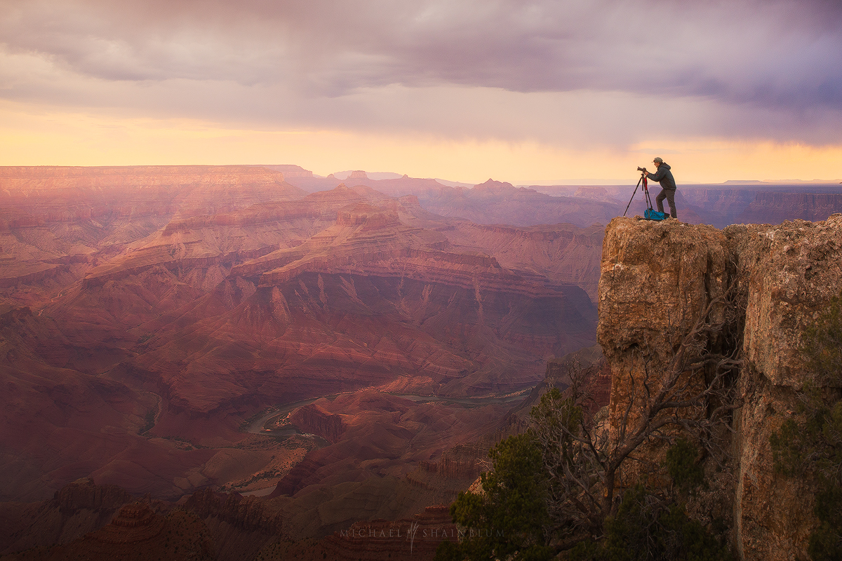 Photographer Edge Grand Canyon Sunset