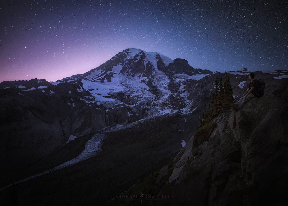 Hike Mount Rainier Night Sky