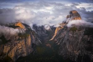 Yosemite Timelapse Glacier Point Storm Clouds Half Dome