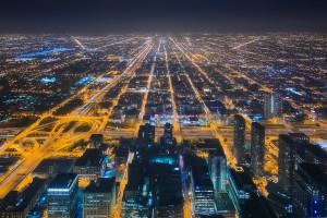 Chicago Road Veins City Night
