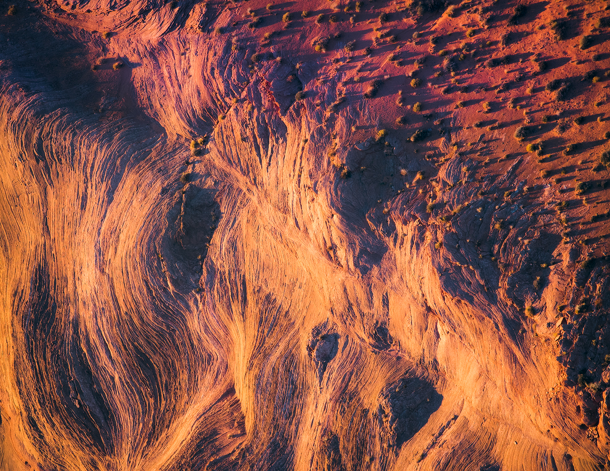Abstract aerial helicopter image from Arizona
