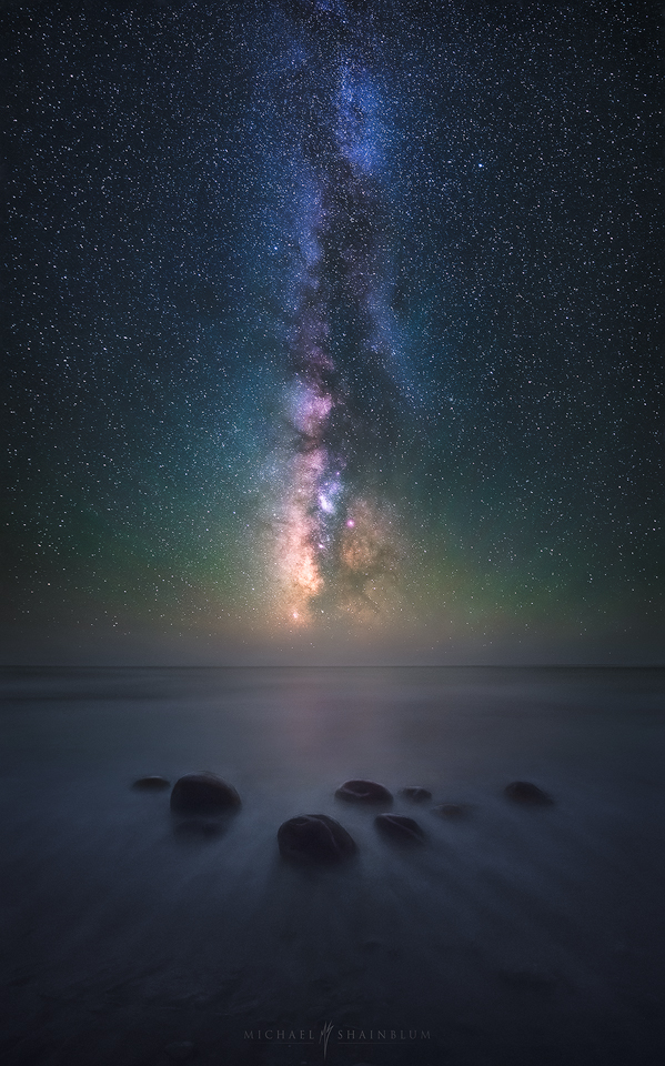 Milky Way Night Sky Ocean