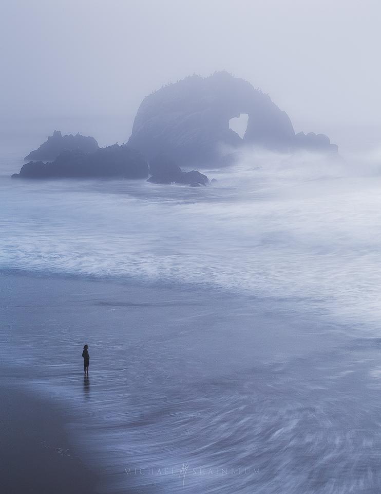 Sutro Baths Heart Rock Ocean Fog