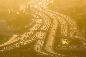Los Angeles Sunset Freeway Traffic