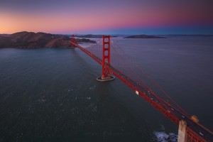 Golden Gate Bridge Aerial San Francisco