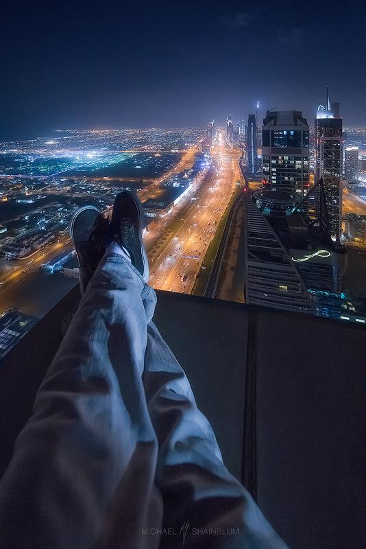 Dubai Skyscraper Relaxing Legs
