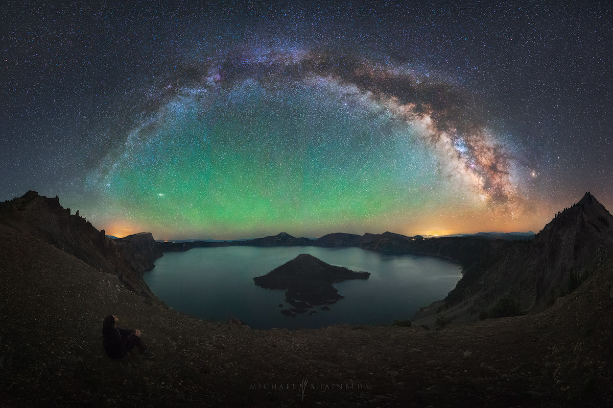 Crater Lake Oregon Milky Way Galaxy