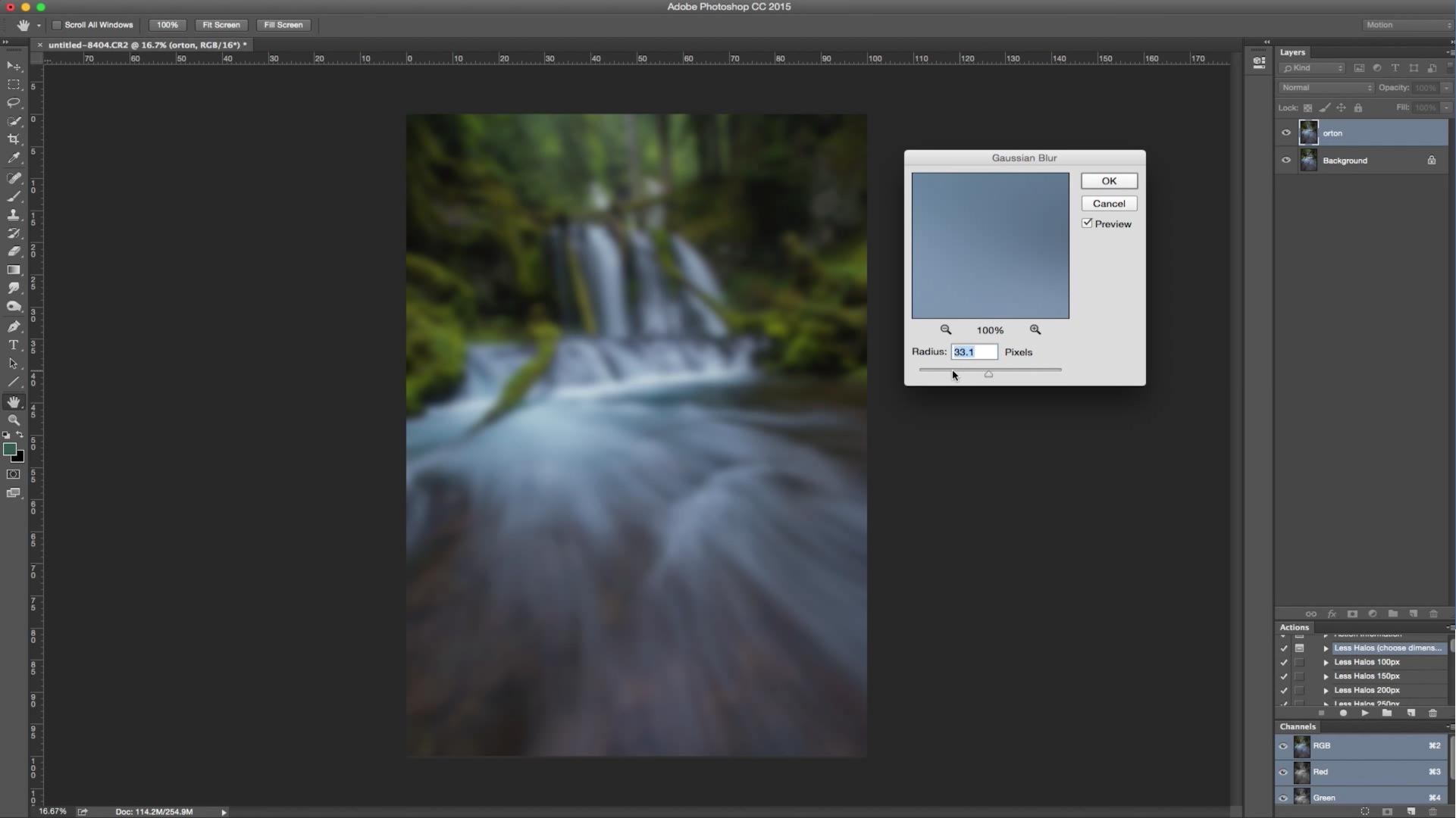 Landscape Photography Photoshop Tutorial, Orton Glow