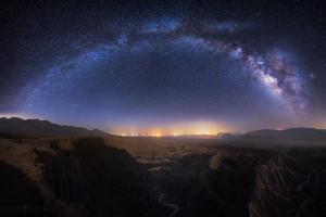 Milky Way, Galaxy, Panorama, Desert