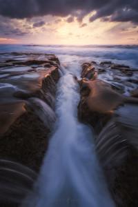 Waterfalls, Ocean, San Diego