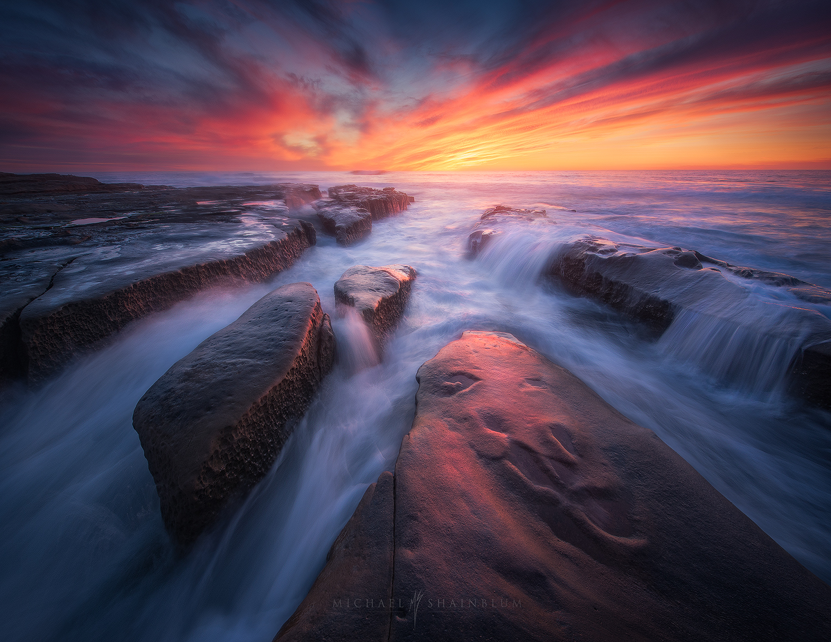 Seascape photography taken in San Diego California.
