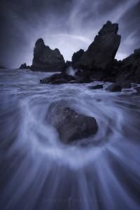 Night seascape taken in San Francisco.