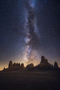 Trona Pinnacles Milky Way