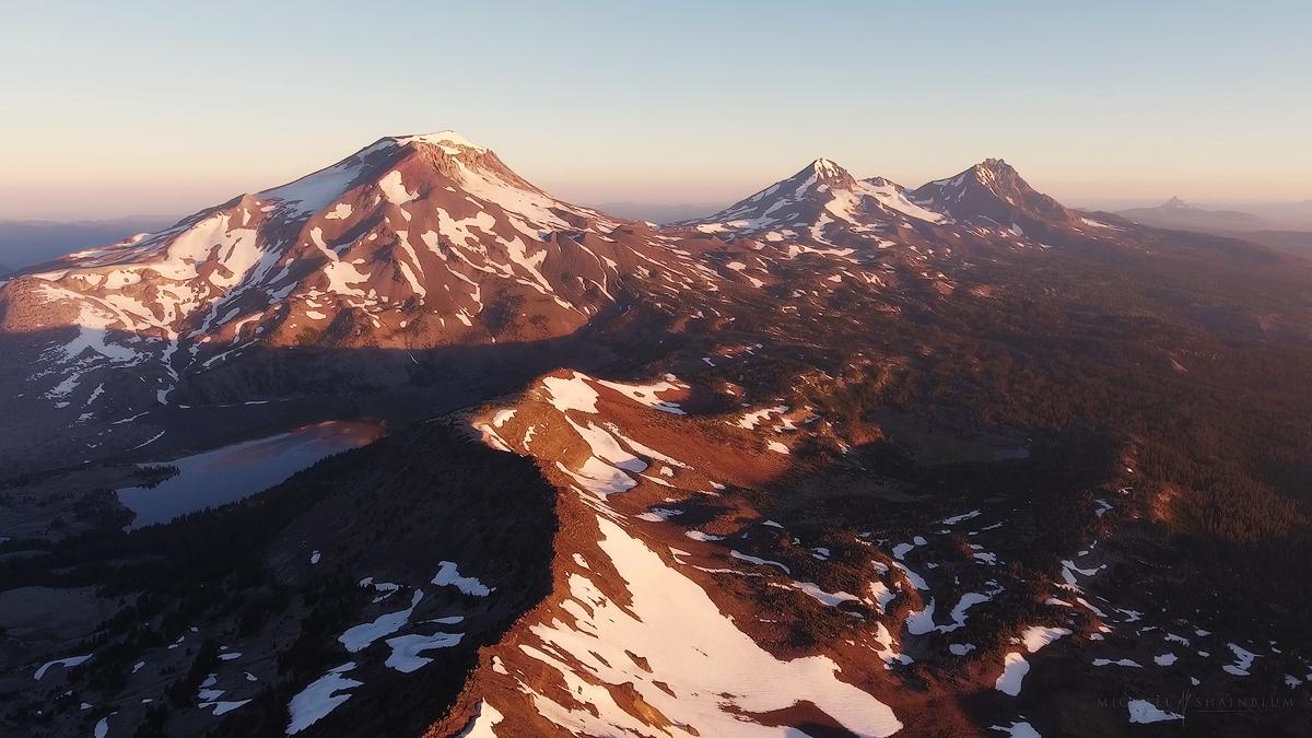 broken top aerial 4k Oregon footage