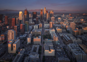 Los Angeles cityscape aerial photography