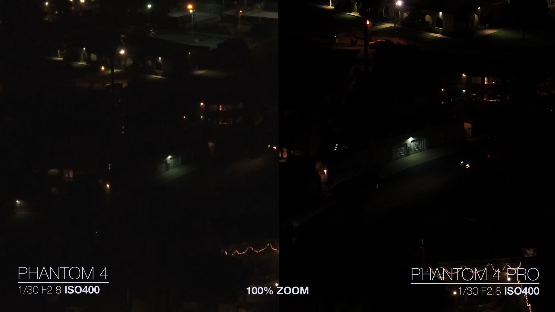 DJI Phantom 4 Pro VS Phantom 4 Low light Video ISO Comparison