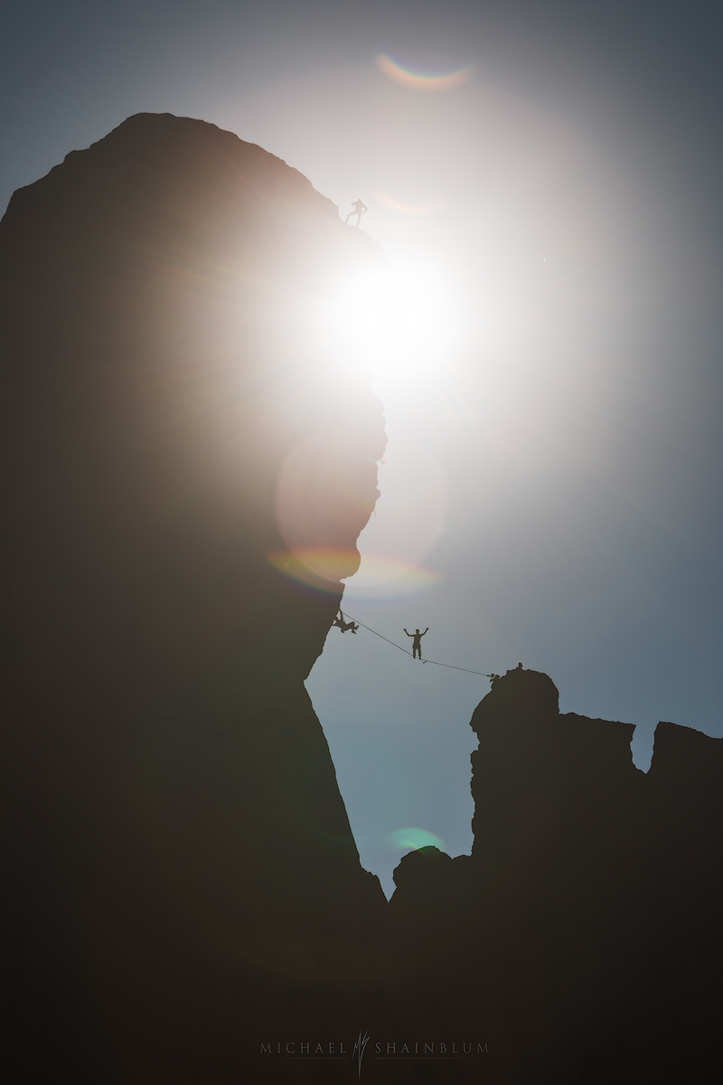 Sunrise climbers, Smith Rock State Park