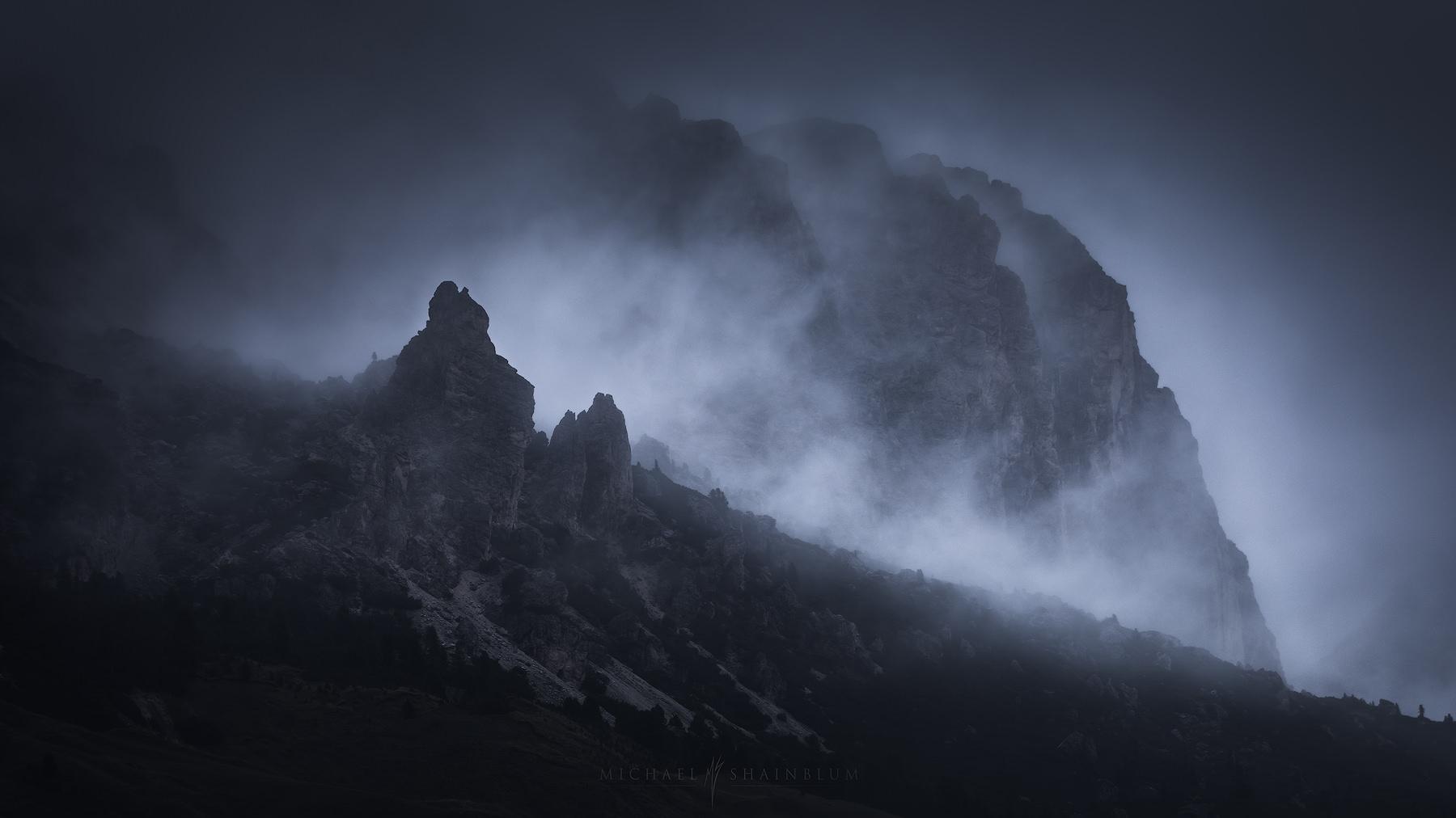 Fog Dolomites Mountain Landscape Photography