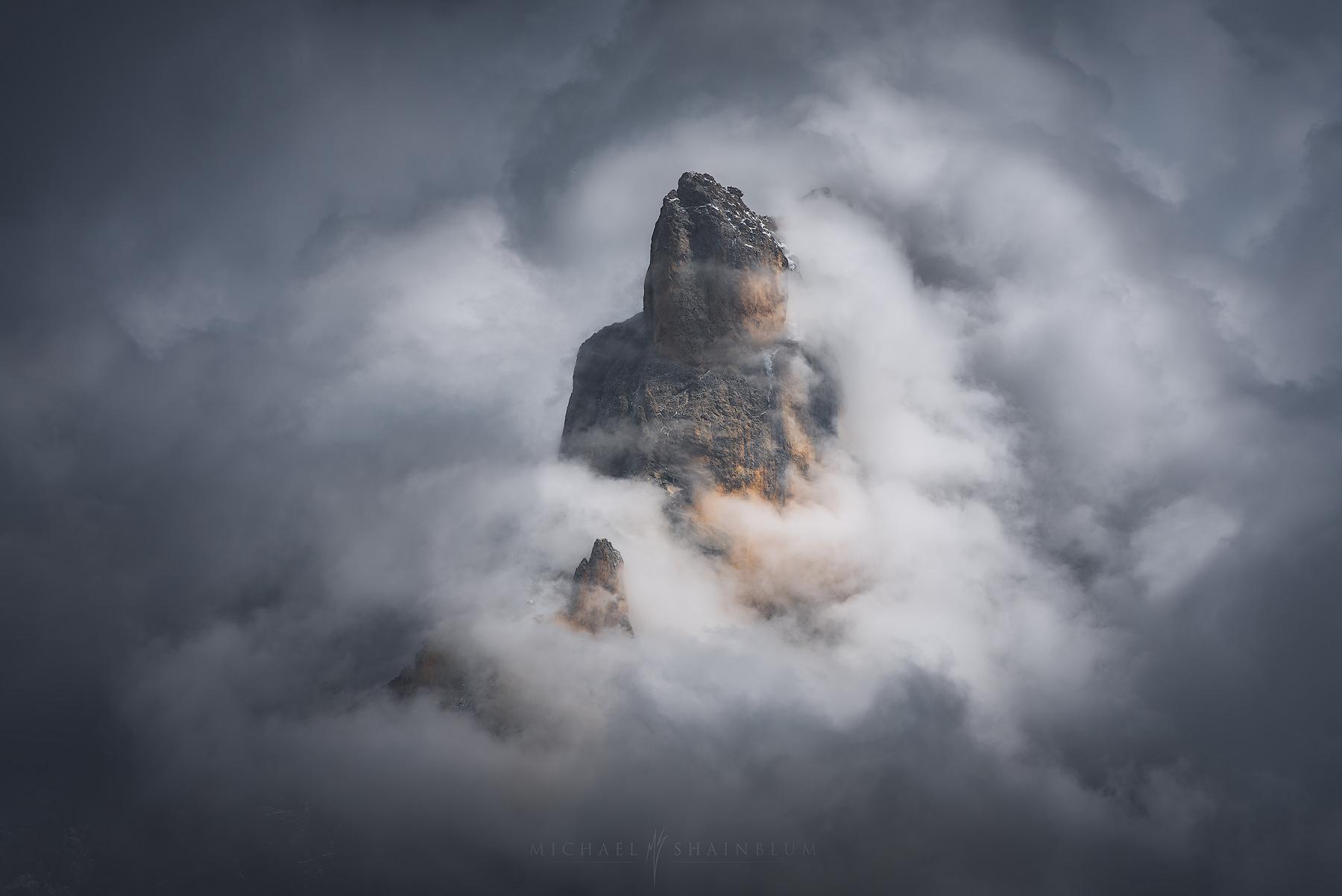 Fog Dolomites Mountain