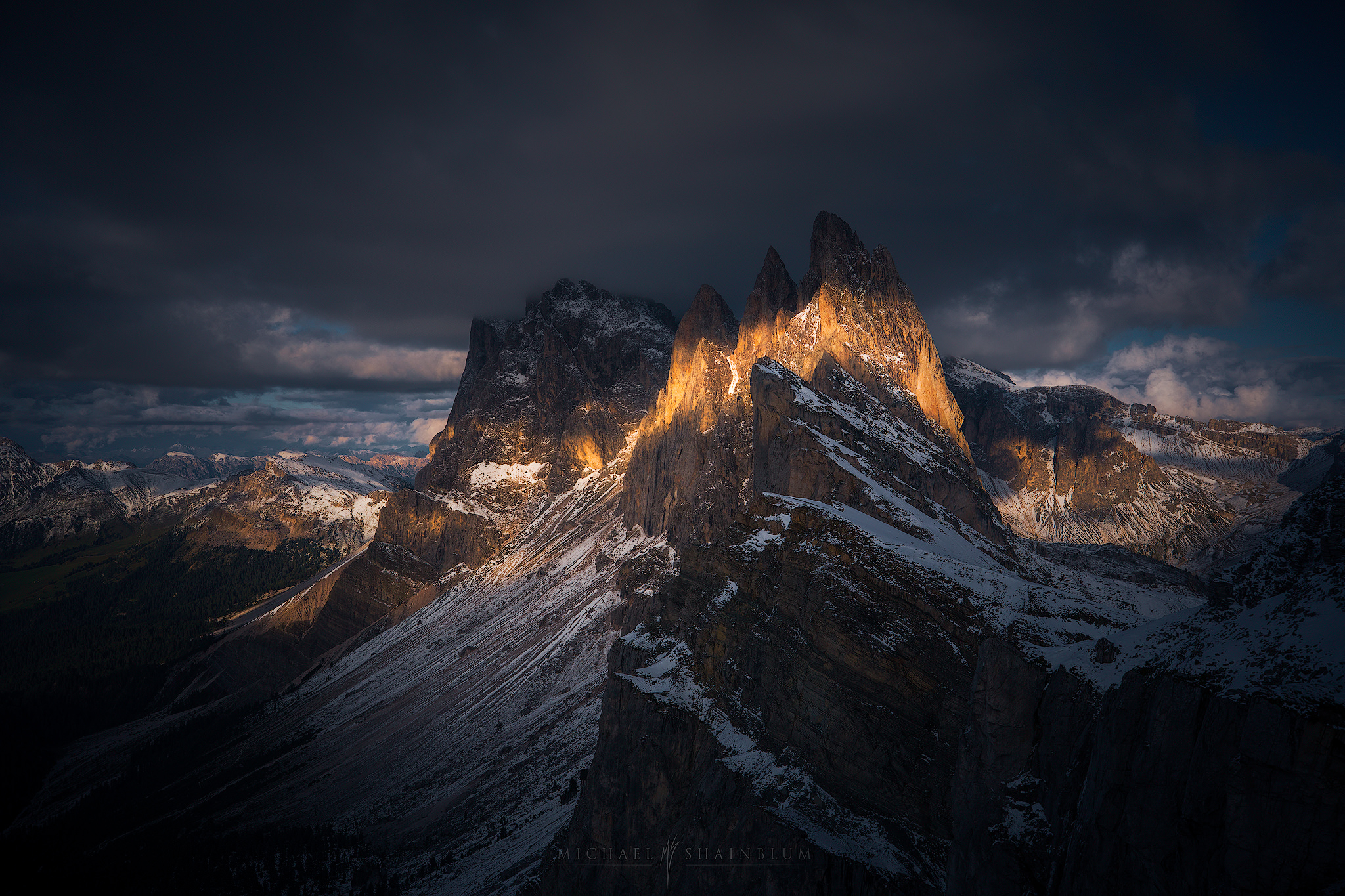 Sunset Dolomites timelapse photography