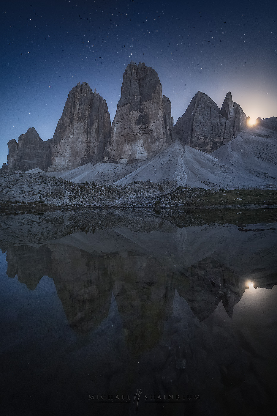 Dolomites Moonset Landscape Photography
