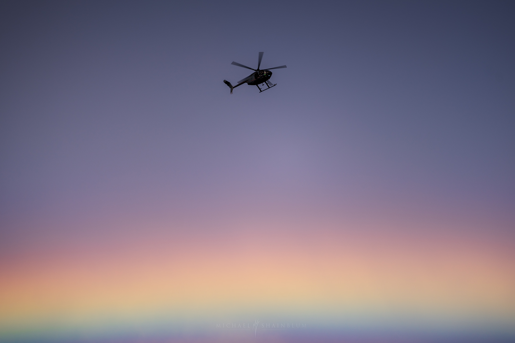 hawaii photography: Helicopter over Rainbow