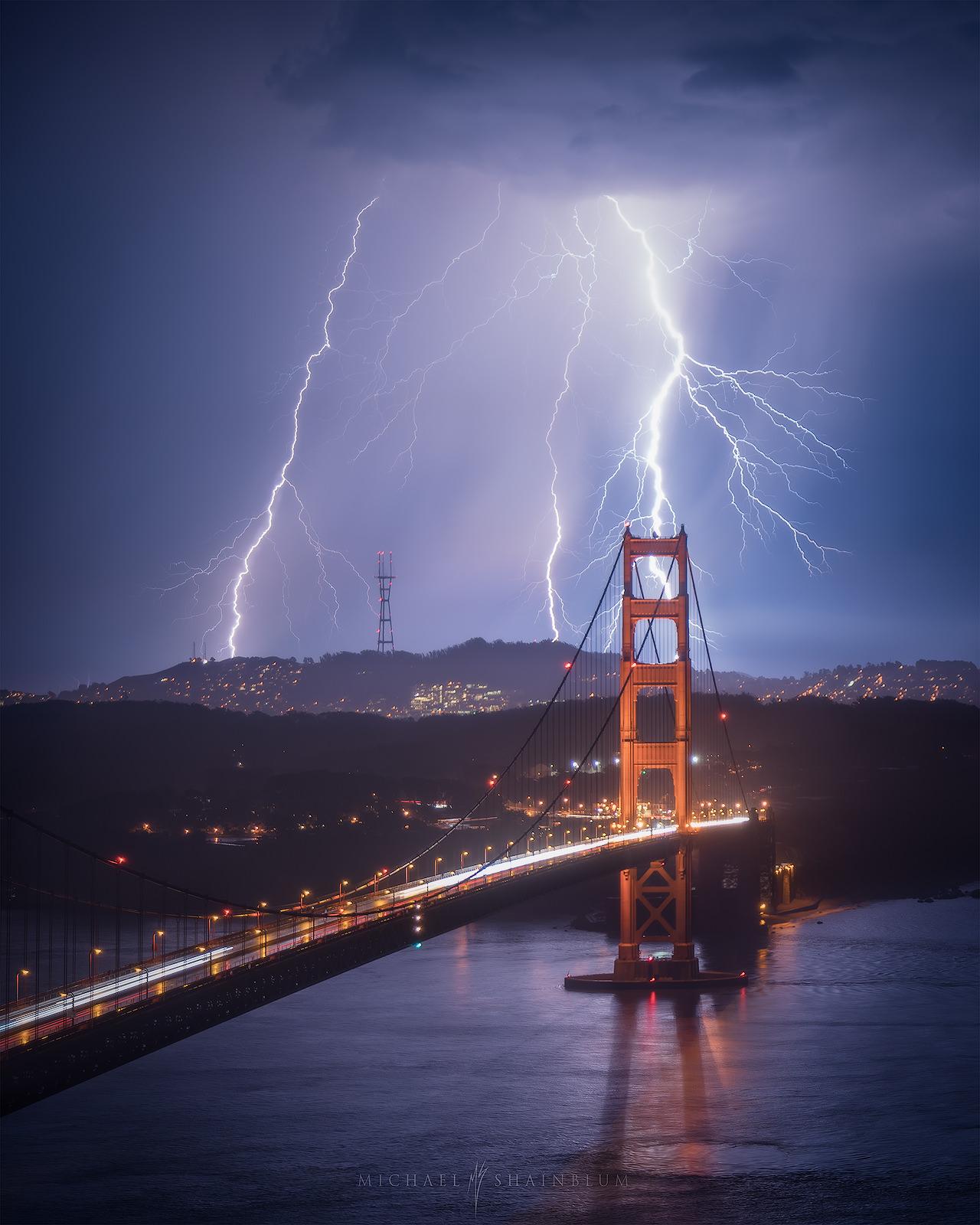 Golden Gate Bridge Lightning Photography, San Francisco