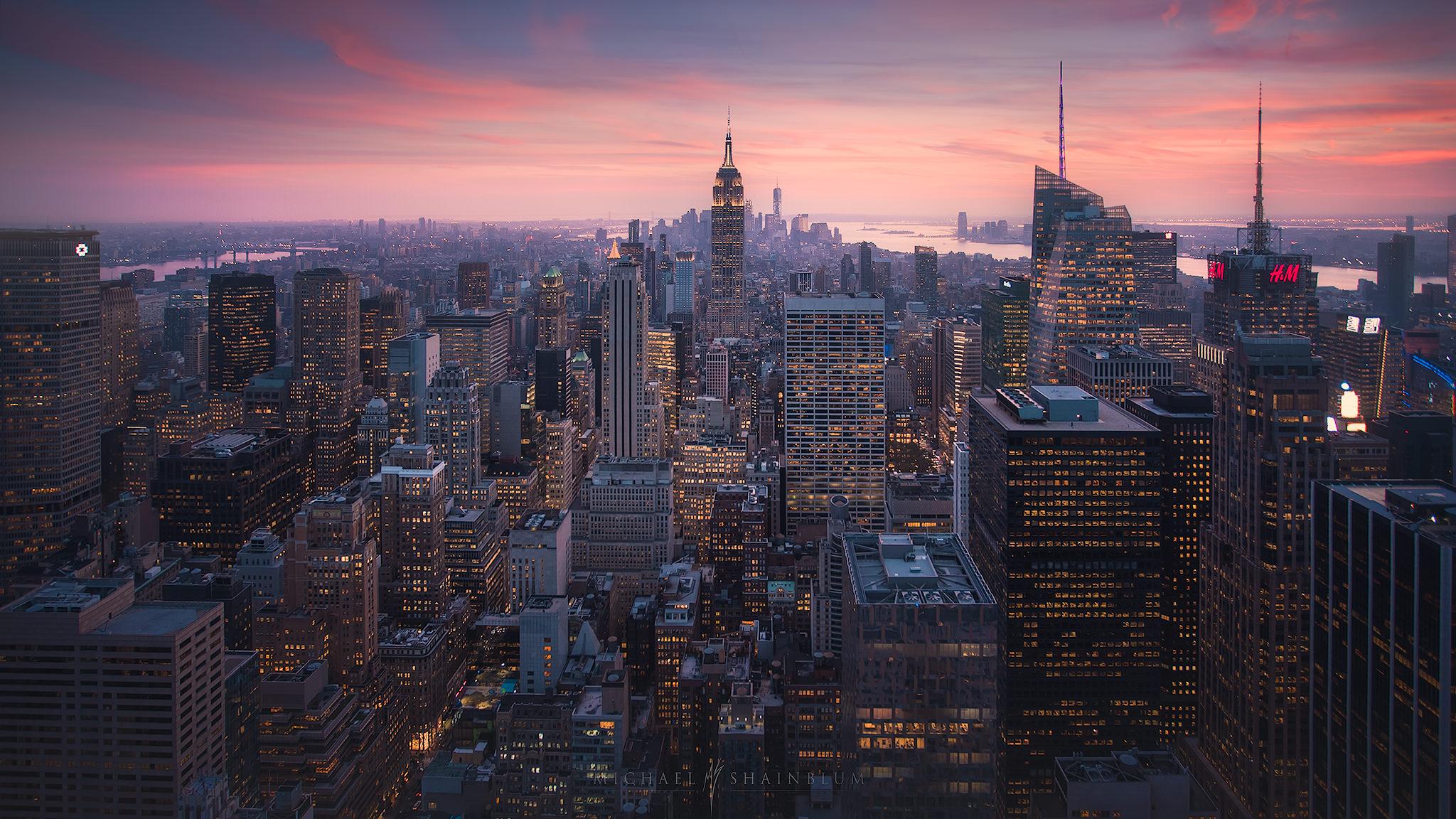 New York City, Sunset Cityscape Photography