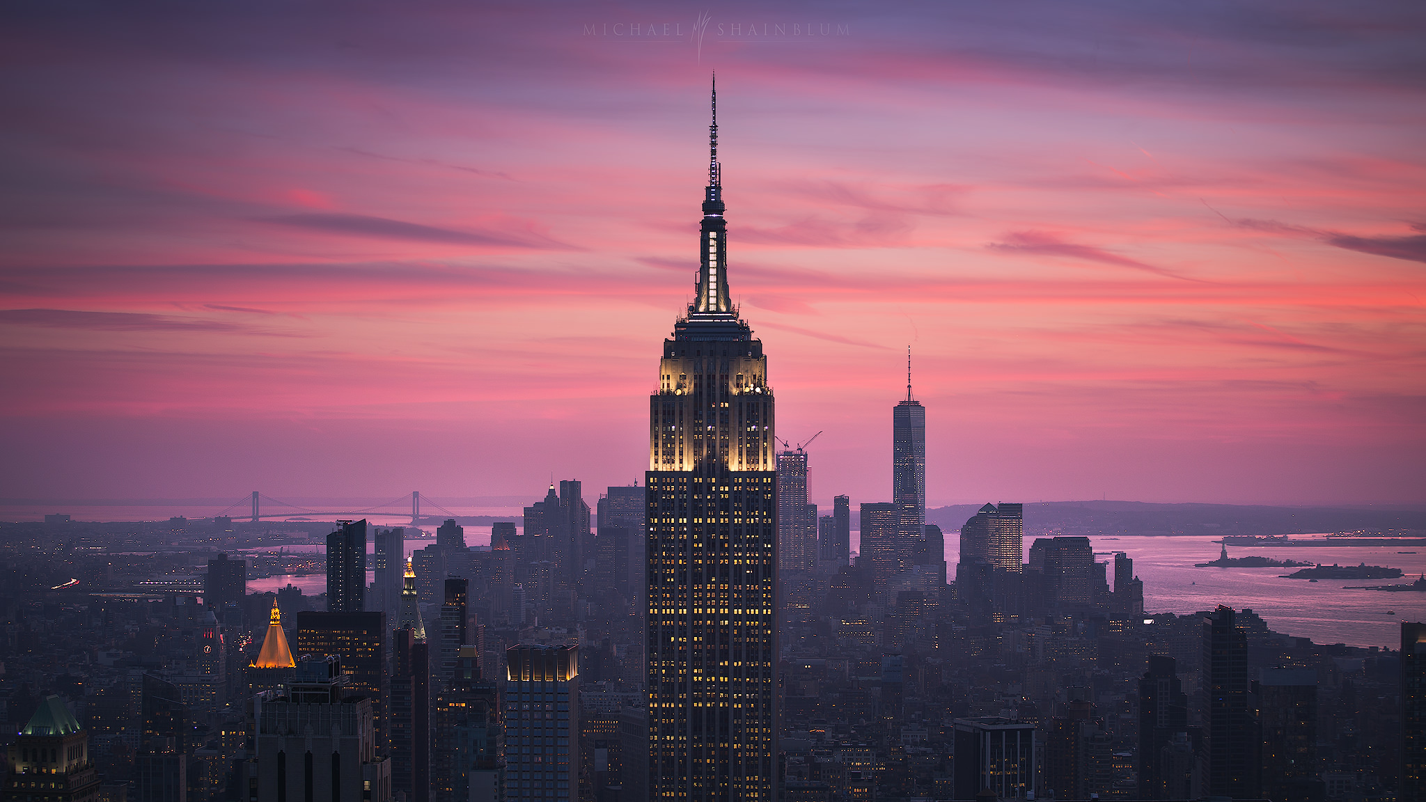 New York City, Sunset Empire State Building Cityscape Photography