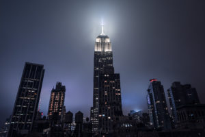 New York City, Night Empire State Building Cityscape Photography