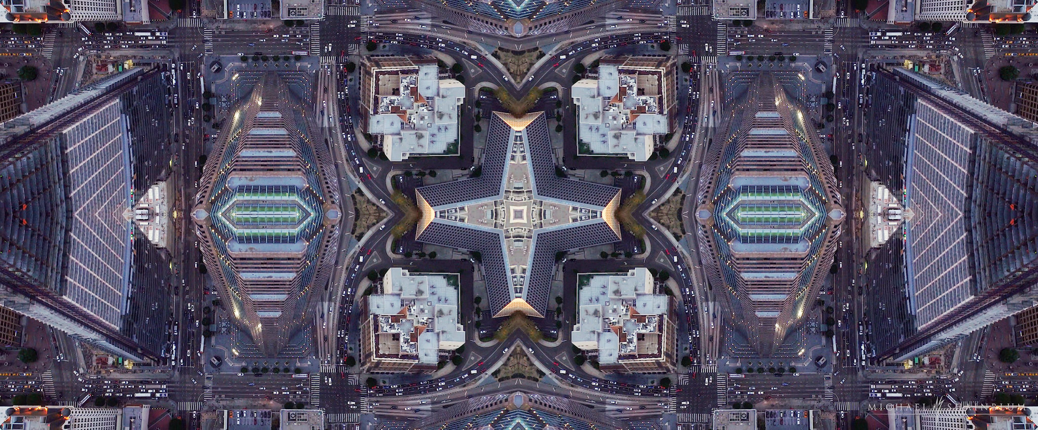 4K abstract mirror hyperlapse