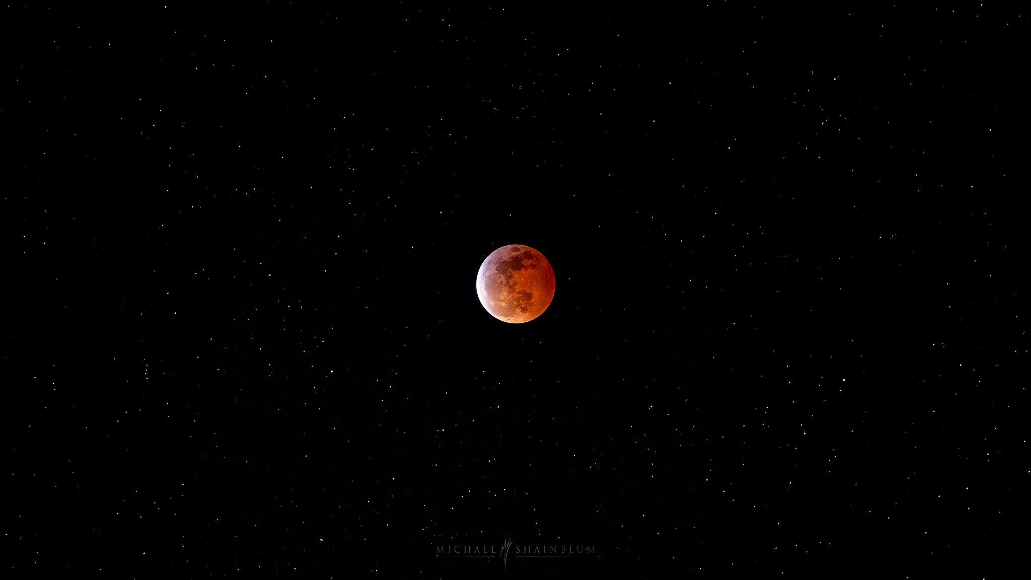 Blood Moon Eclipse over San Francisco California.