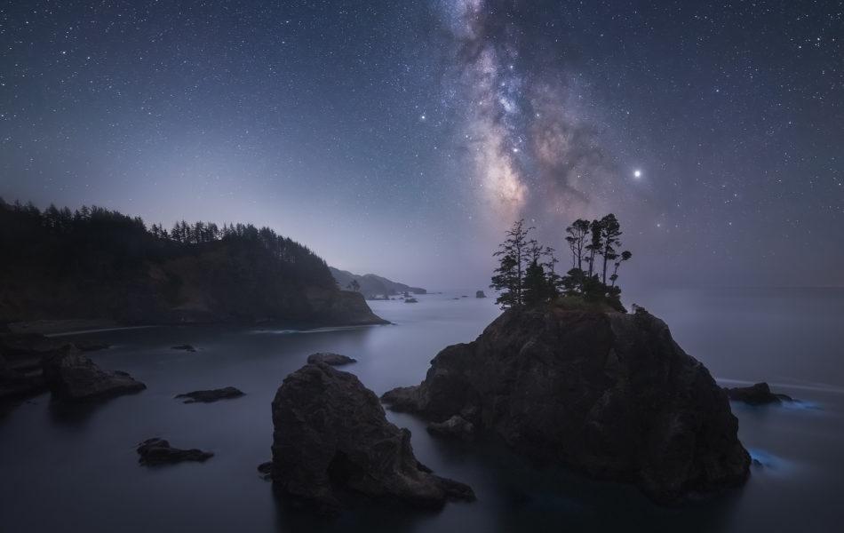 Oregon Coast Milky Way Photography