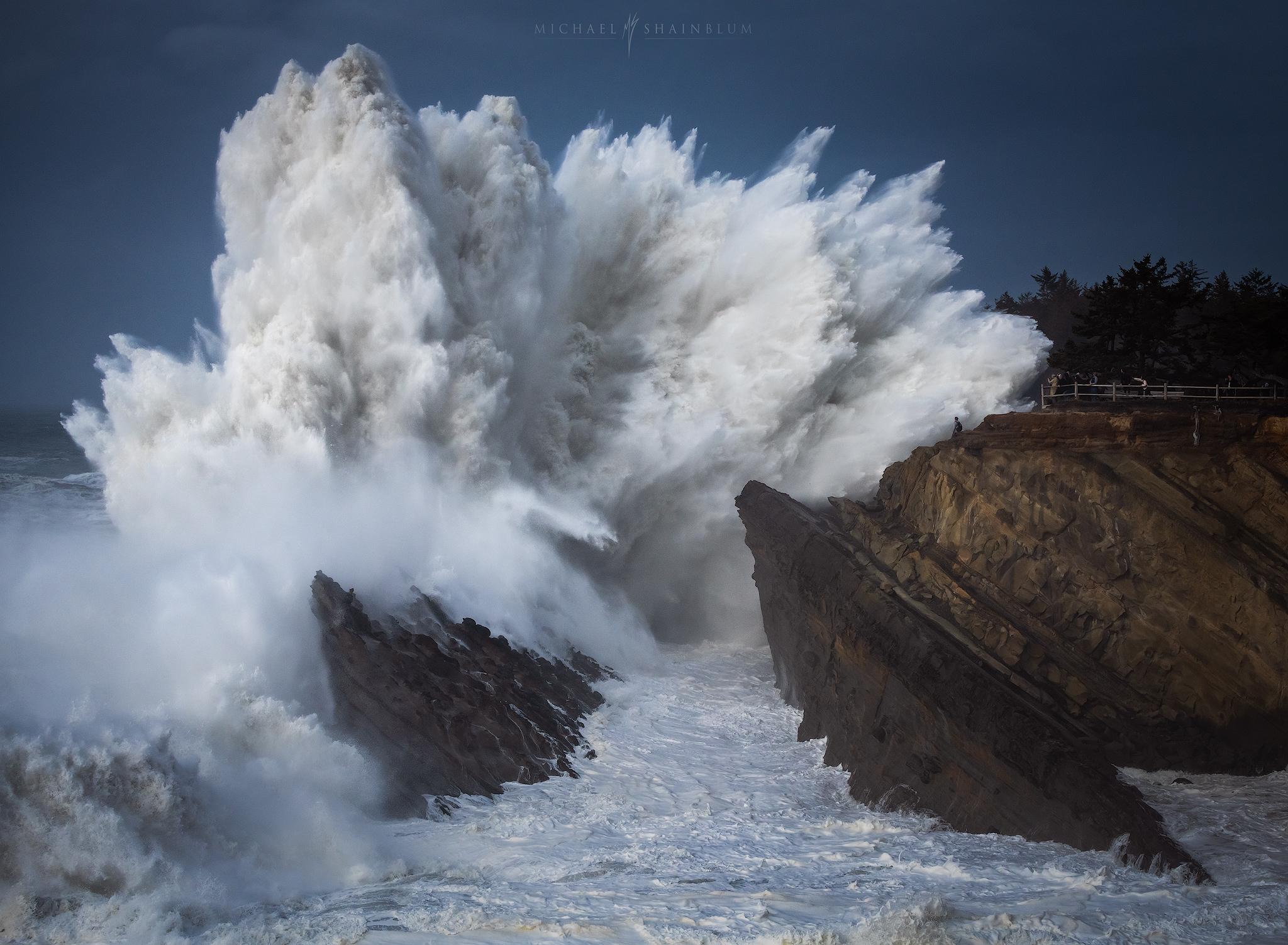 oregon coast big wave, landscape photography